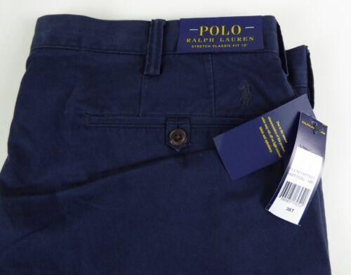 Polo Ralph Lauren Stretch Classic Fit Cotton Blend Twill Shorts Pony NWT $75-85