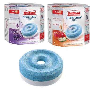 2 x 450g 5 x UniBond Aero 360/° Moisture Absorber Energising Fruit Sensation Refill Tabs pack of 2