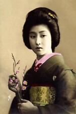 Stampa incorniciata – Vintage tradizionale giapponese GEISHA (PICTURE asiatico arte orientale)
