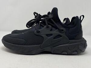 Nike-React-Presto-GS-Triple-Black-BQ4002-005-Size-7Y-Women-039-s-8-5