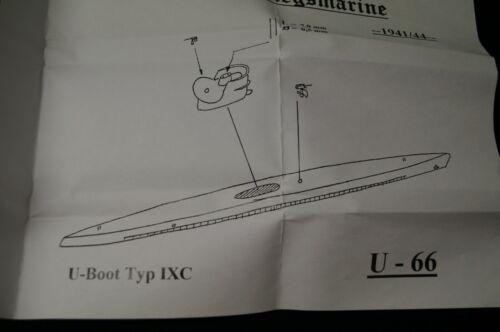 1941//44 HP Models 1:700  WL  U-Boot  Typ IXC   U-66 im Bauzustand