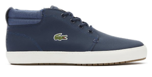 Lacoste-Mens-Ampthill-Terra-Trainers-Boots-High-tops-Navy-Blue