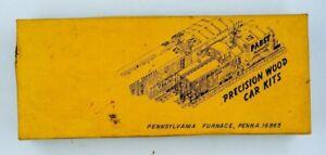 Ye-Olde-Huff-N-Puff-CLEARENCE-CAR-340-open-box-Precision-Wood-Kits-HO-train