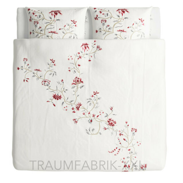 Ikea Rödbinka Bedding Bed Cover 240x220 Cm Bedding Set Flower Flowered 3 Tlg