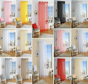 Lucy-Eyelet-Ring-Top-Voile-Curtain-Panel-Slot-Top-Net-Voile-Curtains-All-Sizes