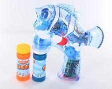 Brand New Fish Flash Toy Bubble Gun Shooter Clown Lear Music Sound & LED Light