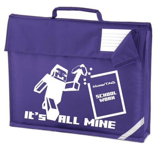 IT/'S ALL MINE Kids School Book Bag Optionally Personalised