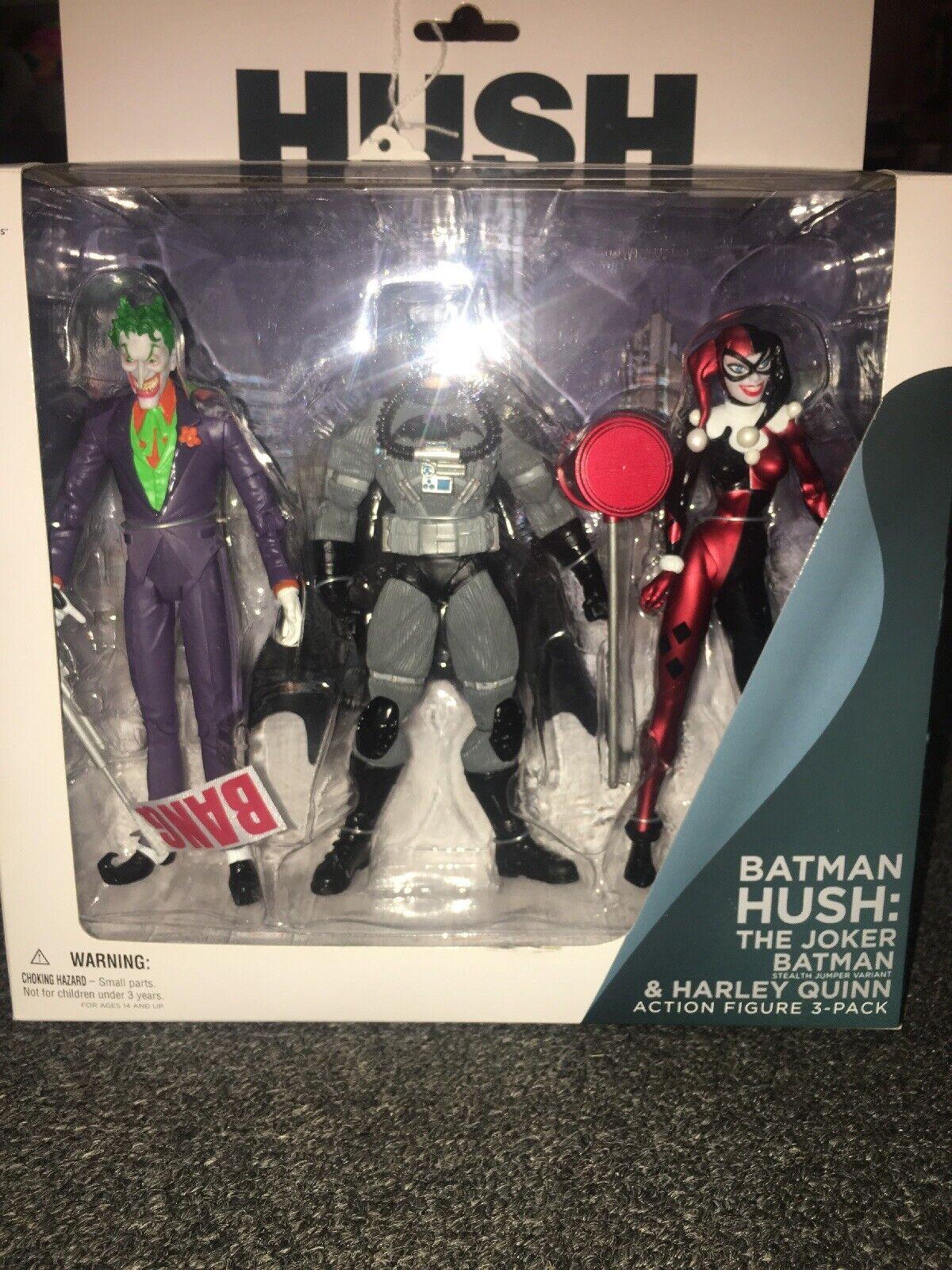 Mattel Batman Hush Joker Harley Quinn Stealth Batman 3 Figure Action Figure