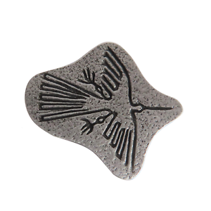 Nazca Condor Geoglyph Pewter Pin Badge