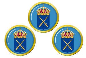Suedois-Armee-Svenska-Arma-N-Marqueurs-de-Balles-de-Golf