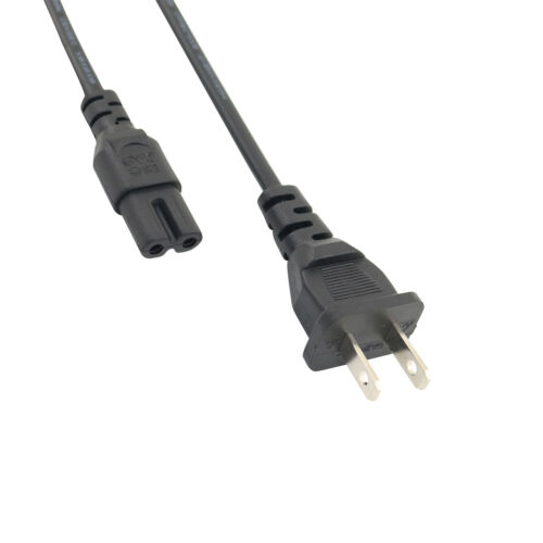 6Ft 2 Prong AC Power Cord Cable for Sony Bravia TV KDL-32R300B KDL-32R330B