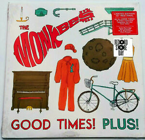 RSD-The-Monkees-Good-Times-Plus-10-034-Red-Vinyl-Maxi-Rare-b-Sides-Record-Store-Day