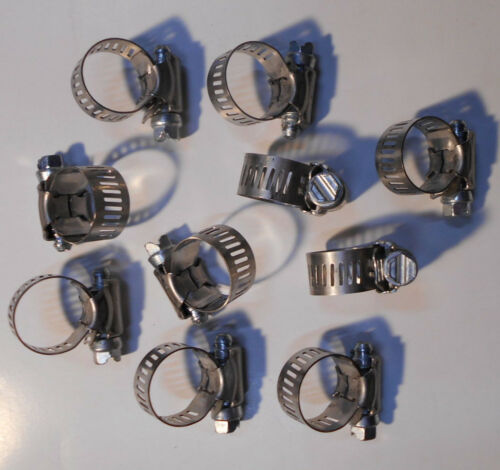 "Lot of 20 New 7//8/"" Id 1//2/"" Band Width  Ideal Hose Clamps 9//22mm"