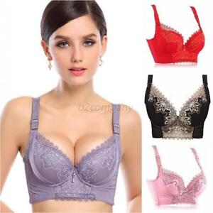 New Super Boost Push Up Lace Side Support Plunge Underwire Bra Cup ...