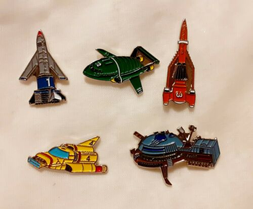 5 X SET OF THUNDERBIRDS PIN BADGE ...