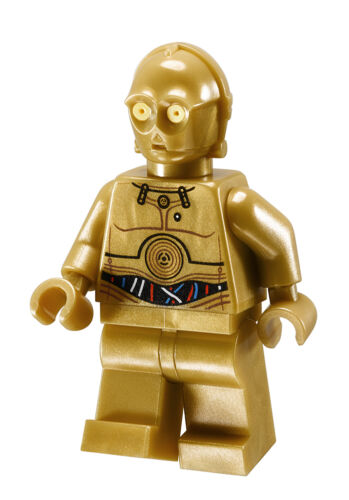 Lego Star Wars Minifigure C-3PO Wires Pattern 9490 10236 **New** **Rare**