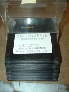 Hitachi-Mark-10-wire-edm-original-software-floppy-disks