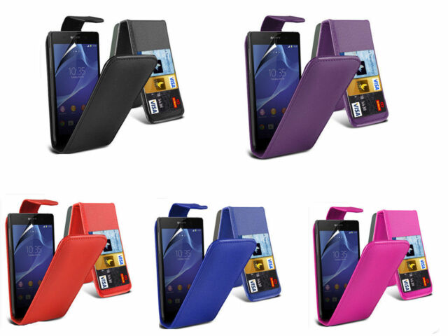 Premium Leather Flip Book Wallet Book Case Cover For Sony Xperia Z3 Compact/Mini