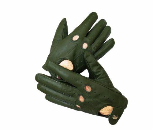 Commando Verde pelle di Pecora pelle Ganti da Guida da Uomo