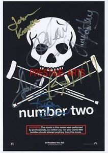 Jackass signed movie poster print
