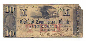 1856-The-Bedford-Commercial-Bank-New-Bedford-Ma-10-Obsolete-Note-No-1000-Rare