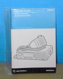 motorola radius m1225 mobile radio operating guide manual free rh ebay ie free motorola radius p1225 manual motorola radius m1225 manual pdf