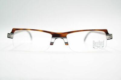 Vintage Bernhard Flex N 52[]18 145 Braun Halbrand Brille Eyeglasses Nos Vertrieb Von QualitäTssicherung
