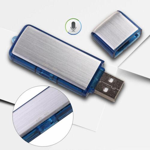 8GB Mini Digital Diktiergerät Aufnahmegerät Audio Voice Recorder USB Stick Blau