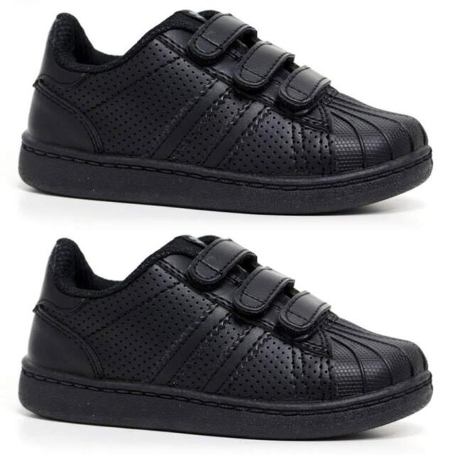 Boys or Girls Lonsdale Trainers Black