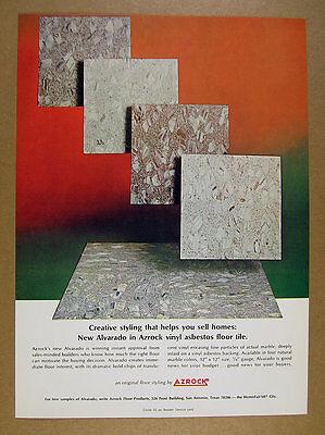 1968 Azrock Alvarado Vinyl-Asbestos Floor Tile flooring vintage print Ad | eBay