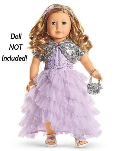 Nuevo American Girl Doll Store Exclusive vacaciones 2015 Escarchado púrpuraa Vestido Vestido