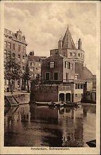 Amsterdam Niederlande Nederland Holland 1928 Schreierstoren Kanal Gebäude Boote