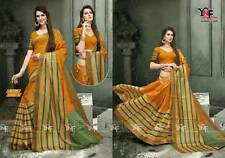 Sari Designer Bollywood Jaipuri Cotten Silk Printed Saree Party wear Sari Blouse