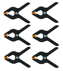 6 Heavy Duty Clamp Set Craft Diy Woodworking Micro Grip Clips Spring
