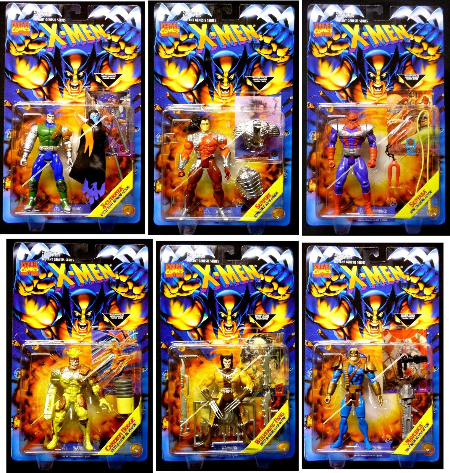 X-Men Mutant Gensis 6 Action Figure Set New 1996 Toy Biz Marvel Comics Amricons