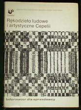 BOOK Polish Folk Art embroidery costume wood carving doll Cepelia Guide POLAND
