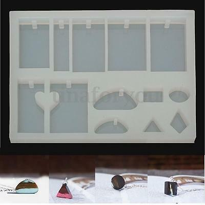 1pc DIY Pendant Mold Mould Silicone Jewellery Making Tool Hole Craft Supply