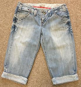 Tommy Hilfiger Para Mujer Magnificos Rochana 3 4 Pantalon Pantalones Cortos De Mezclilla 30 W Costo De 75 Ebay