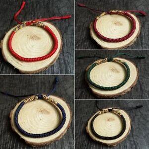 Women-Men-Tibetan-Buddhist-Handmade-Knot-Rope-Love-Lucky-Charm-Bracelets-Bangles