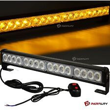 18 inch LED Amber Light Emergency Warn Strobe Flash Yellow Bar Hazard Security