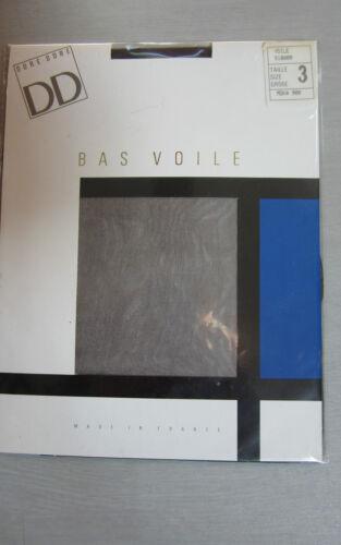 BAS  VOILE DORE DORE POUR PORTE JARRETELLES  T 3-5 COULEURS