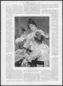 1898-FINE-ART-Antique-Print-Trio-Edgar-Bundy-Oil-Colours-Ladies-Musical-103