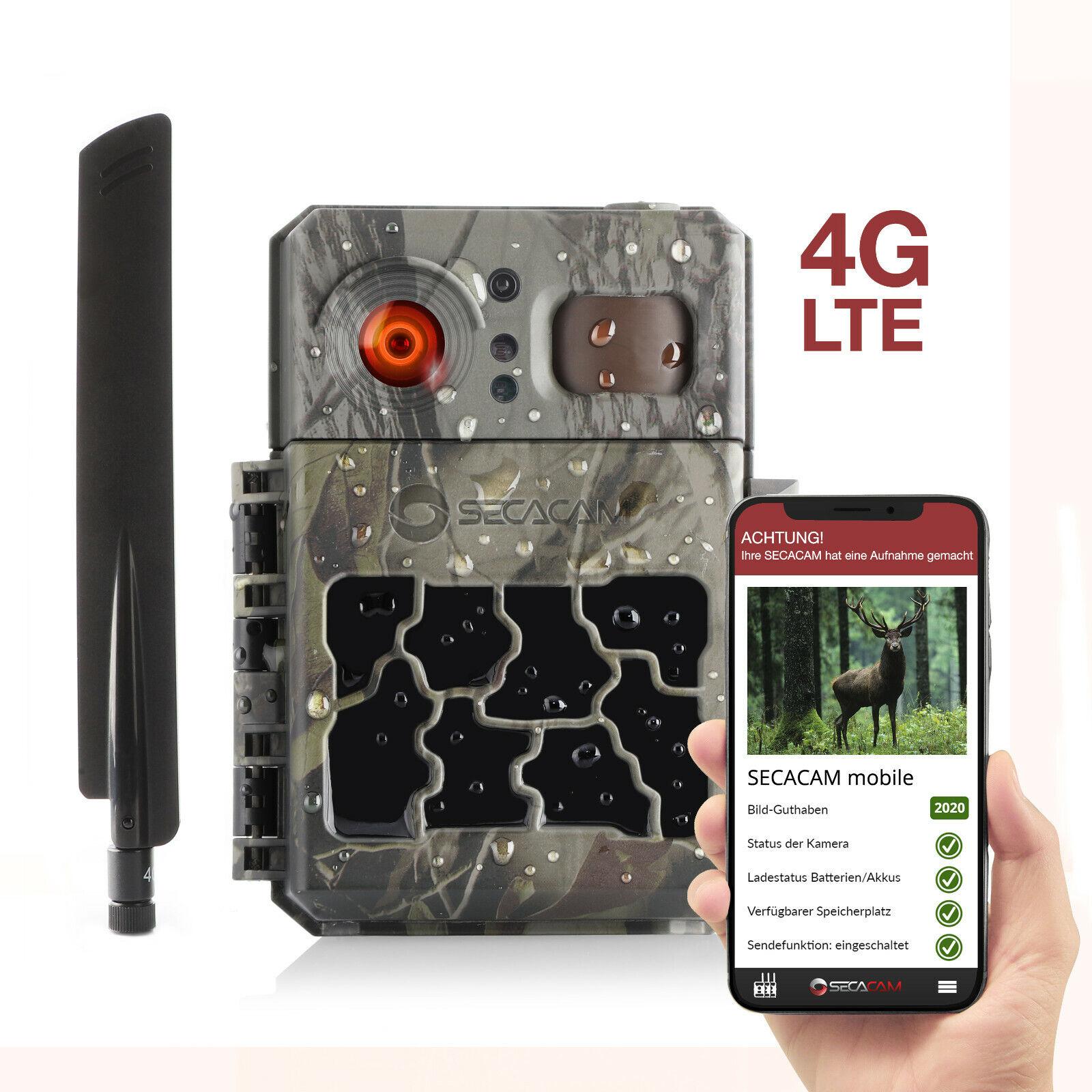 4G Wildkamera SECACAM PRO Plus mobile LTE, SIM-Karte, App, Bildübertragung Handy