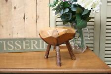 Pretty Petite Rustic Antique Vintage Solid Wood Trunk Twig Slice Stool
