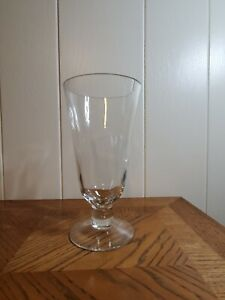 Very Large Glass Footed Highball Shaped Vase