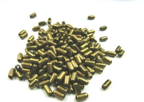 Großpackung 1000 METALLPERLEN Zylinder RÖHRCHEN Farbe bronze #S597