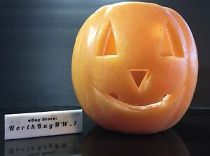 Pottery Barn Wax Luminany Jack O Lantern Pumpkin Halloween