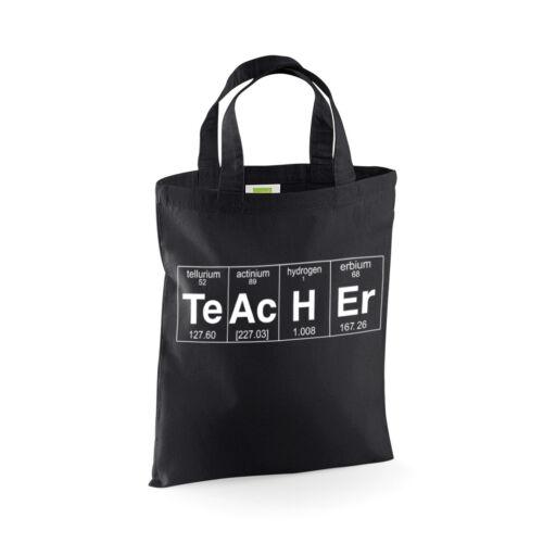 TE H insegnante tavola periodica fine dell/'anno regalo Mini Tote Bag AC ER