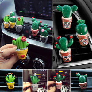 Lovely Cactus Perfume Clip For Auto Airconditioning Vent Parfum Car