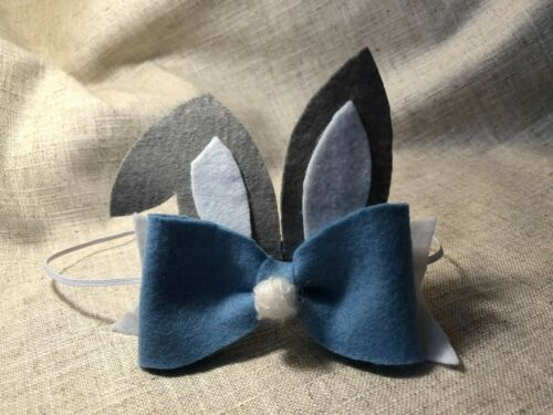 Girls Boys Baby Easter Bunny Ears Headband Hairband Soft Felt Family Egg Hunt